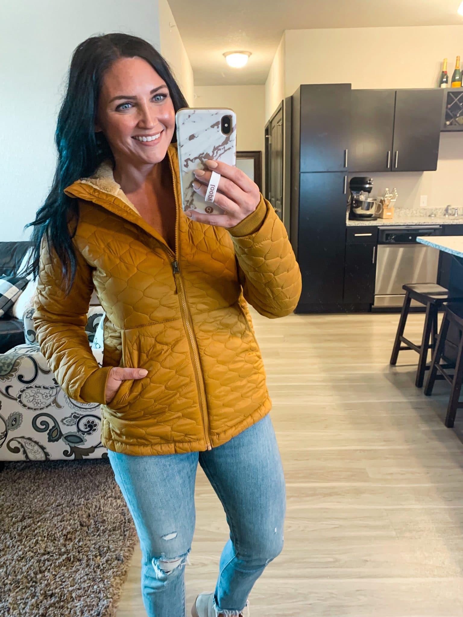 quilted hooded jacket, fall jacket, Fall amazon fashion, #founditonamazon, Stilettos and Diapers