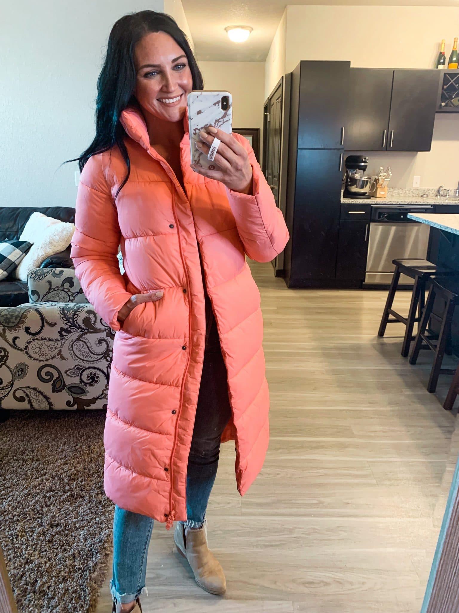 affordable long puffer jacket, best puffer coat, Fall amazon fashion, #founditonamazon, Stilettos and Diapers