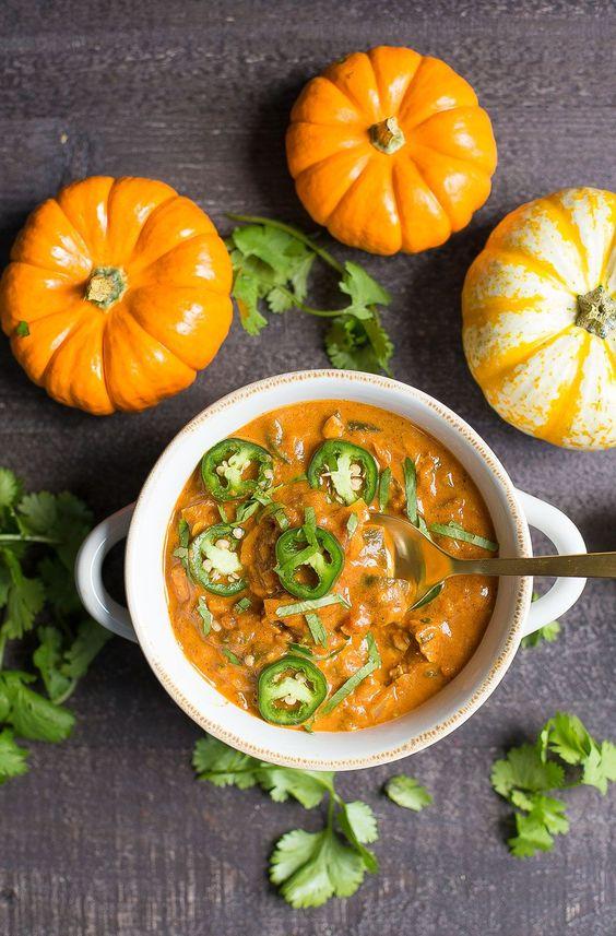 Pumpkin Chicken Chili, Delicious fall chili, fall recipes, Stilettos and diapers